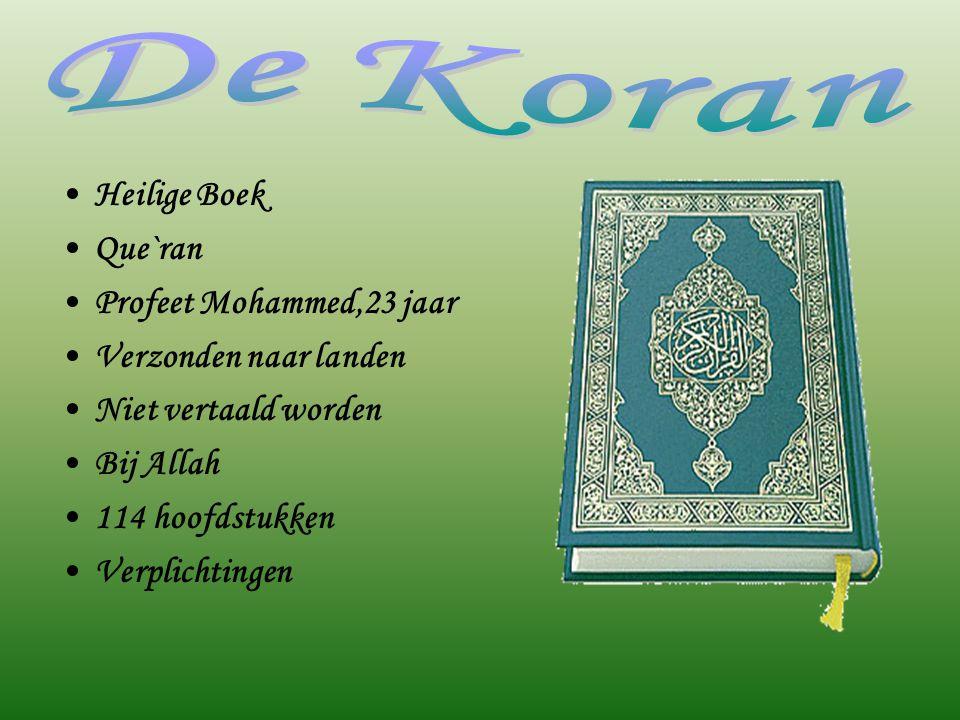 De Koran Heilige Boek Que`ran Profeet Mohammed,23 jaar