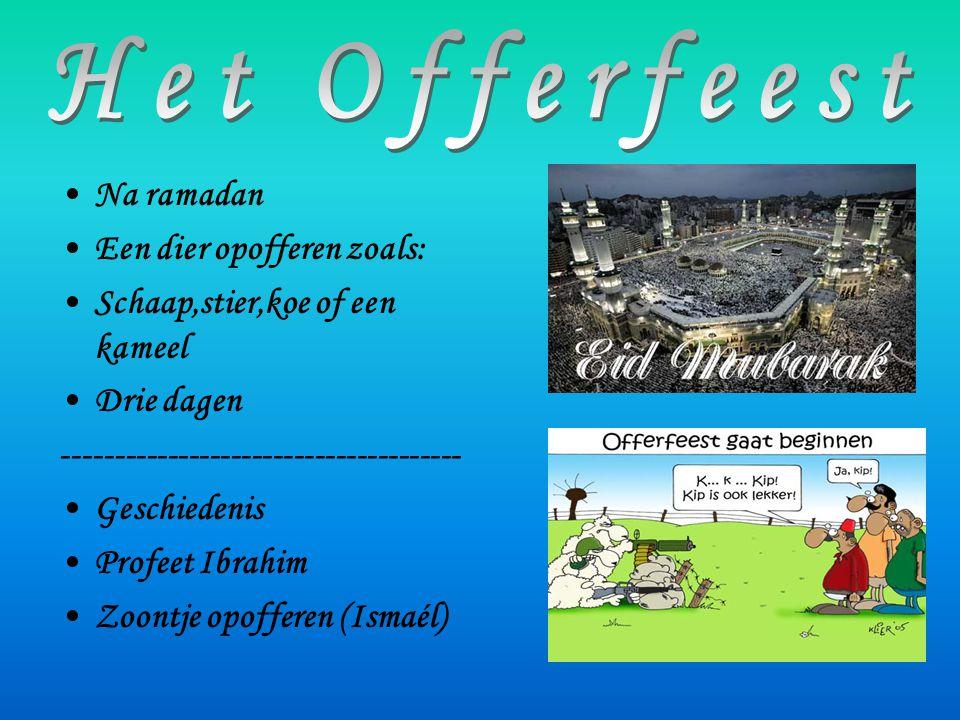 Het Offerfeest Na ramadan Een dier opofferen zoals: