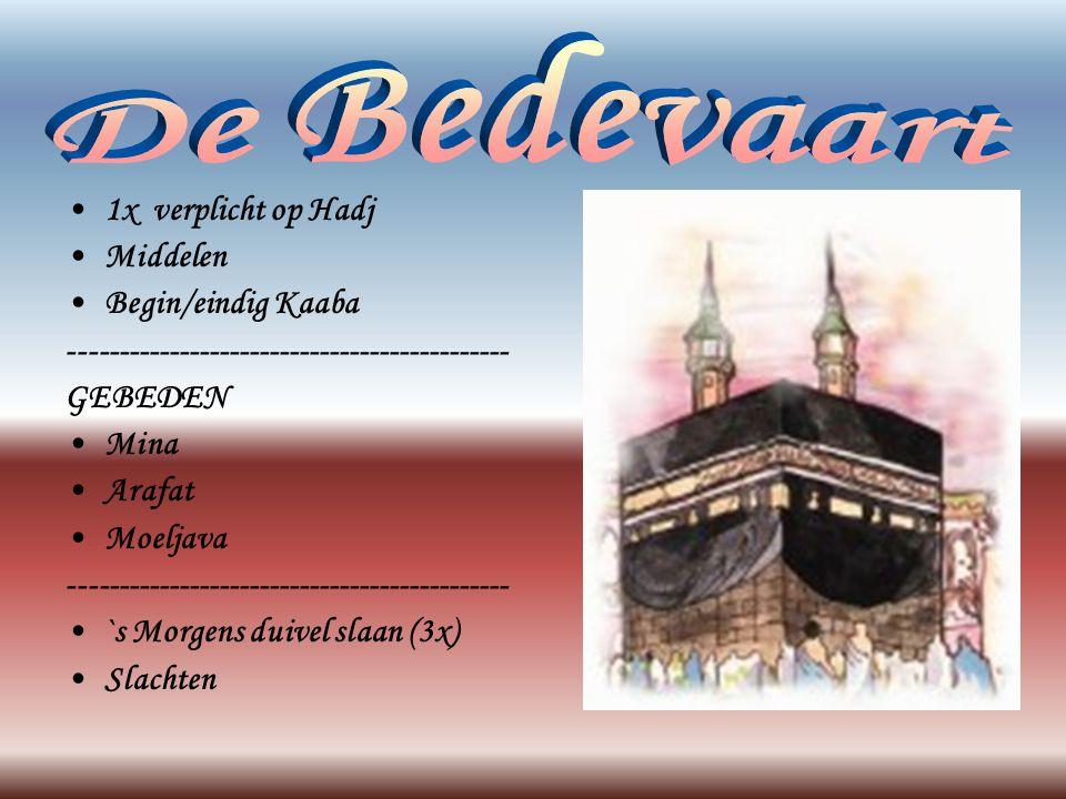 De Bedevaart 1x verplicht op Hadj Middelen Begin/eindig Kaaba