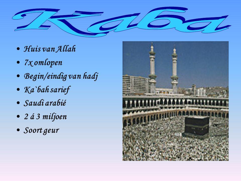 Kaba Huis van Allah 7x omlopen Begin/eindig van hadj Ka`bah sarief