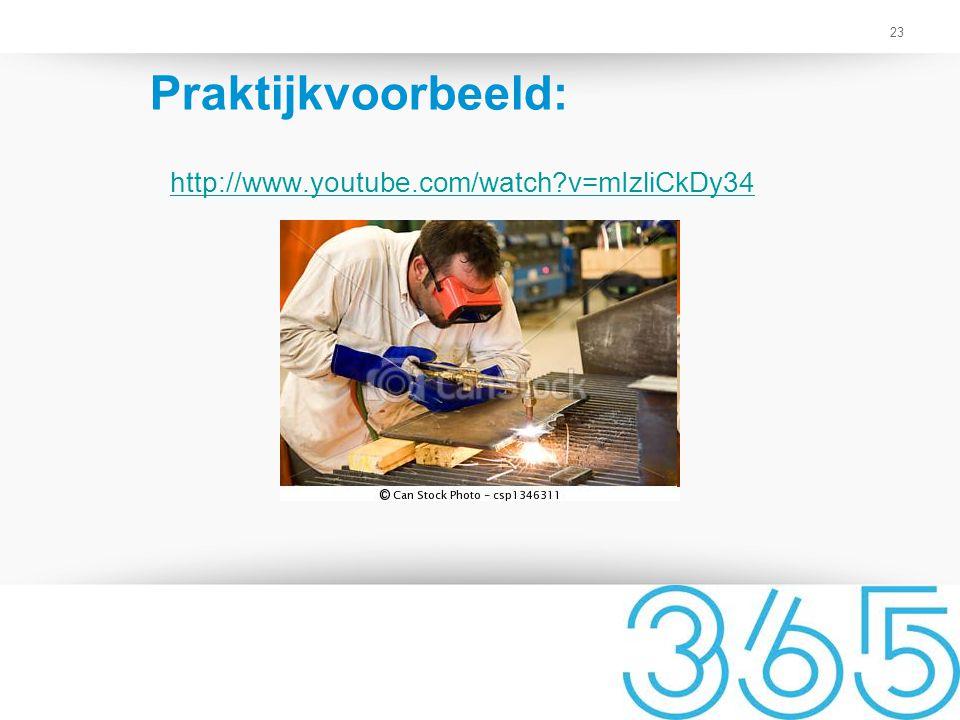 Praktijkvoorbeeld: http://www.youtube.com/watch v=mIzliCkDy34 5