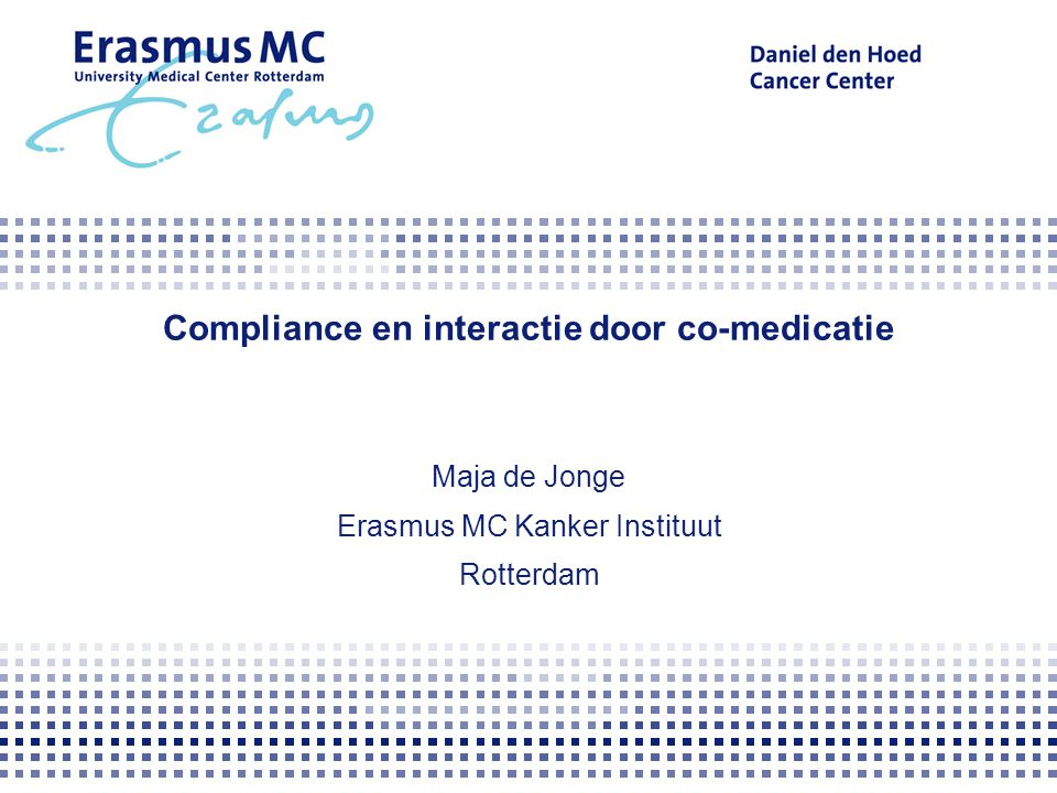 Compliance en interactie door co-medicatie