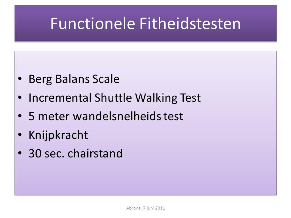 Functionele Fitheidstesten