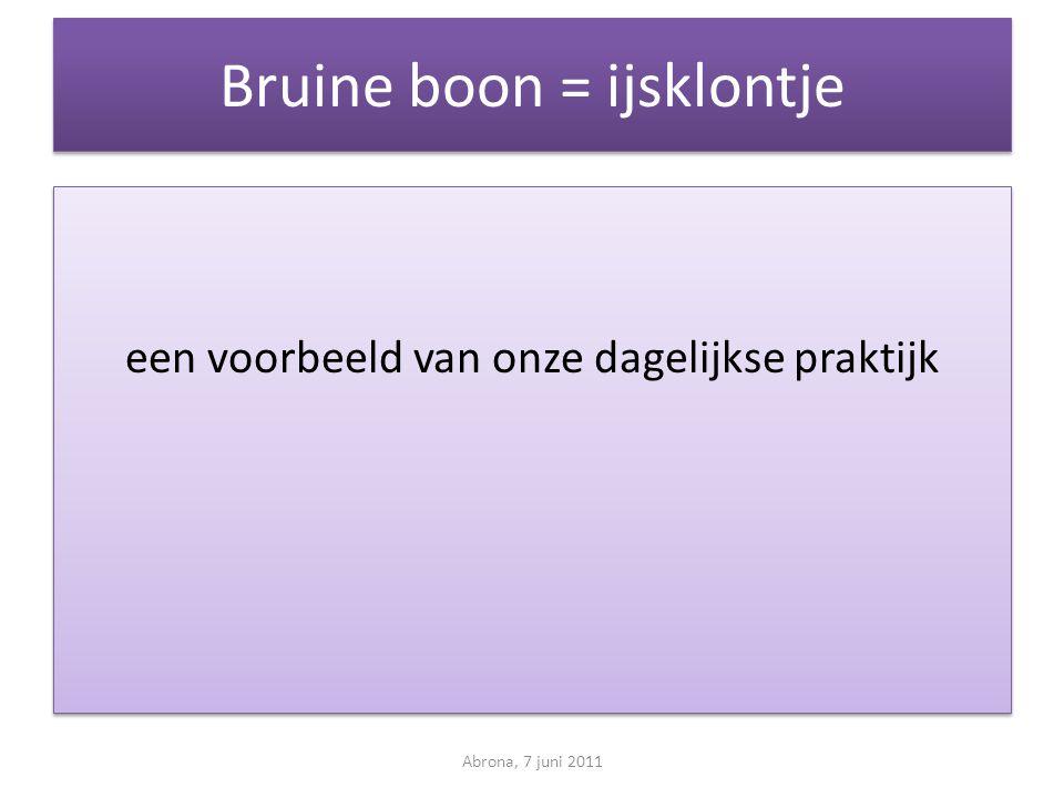 Bruine boon = ijsklontje