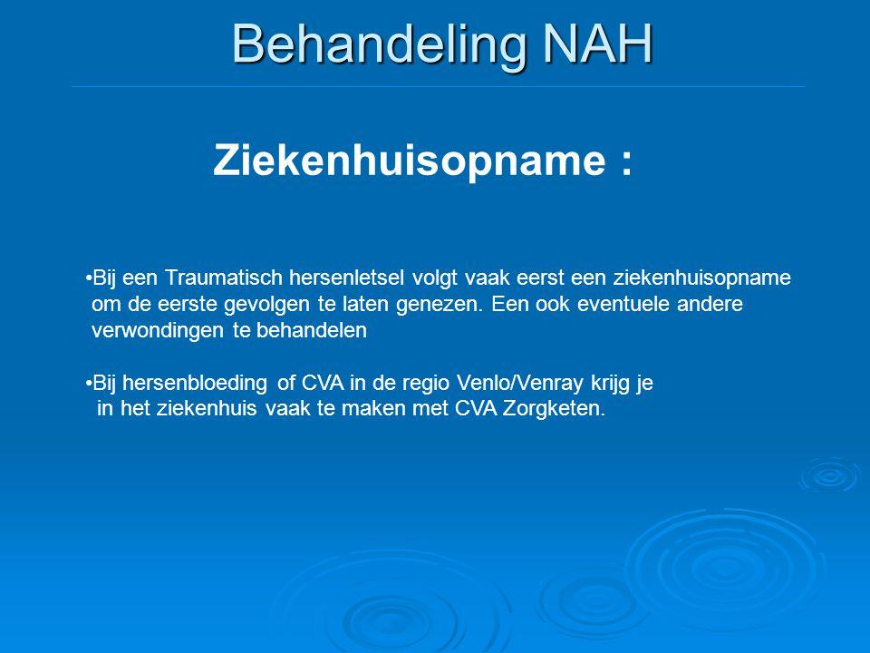 Behandeling NAH Ziekenhuisopname :