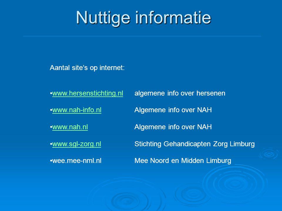 Nuttige informatie Aantal site's op internet: