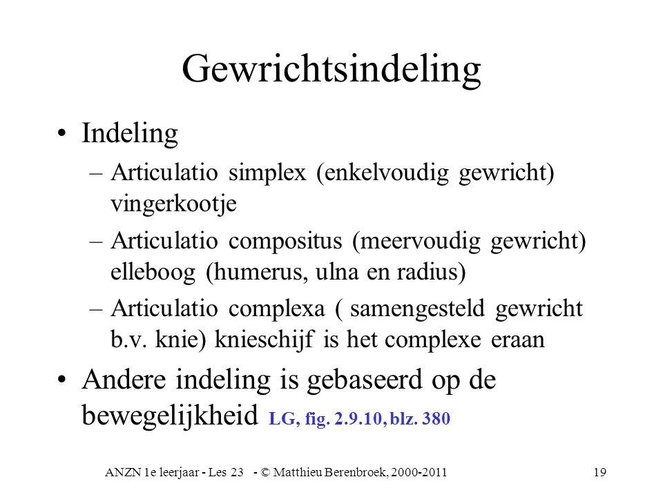 ANZN 1e leerjaar - Les 23 - © Matthieu Berenbroek, 2000-2011