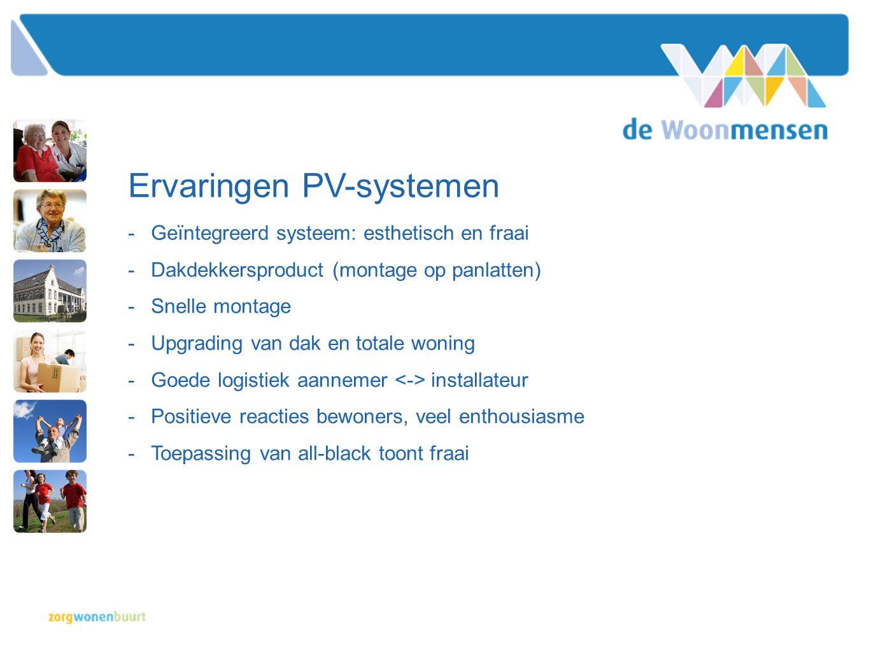 Ervaringen PV-systemen