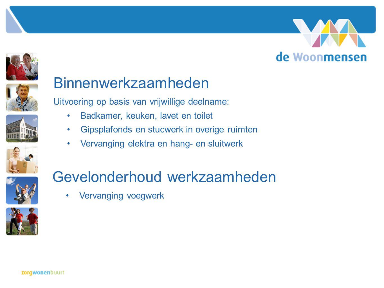 Binnenwerkzaamheden Uitvoering op basis van vrijwillige deelname: