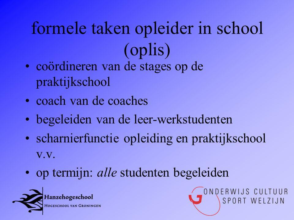 formele taken opleider in school (oplis)