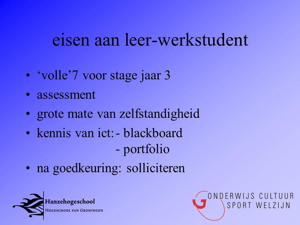eisen aan leer-werkstudent