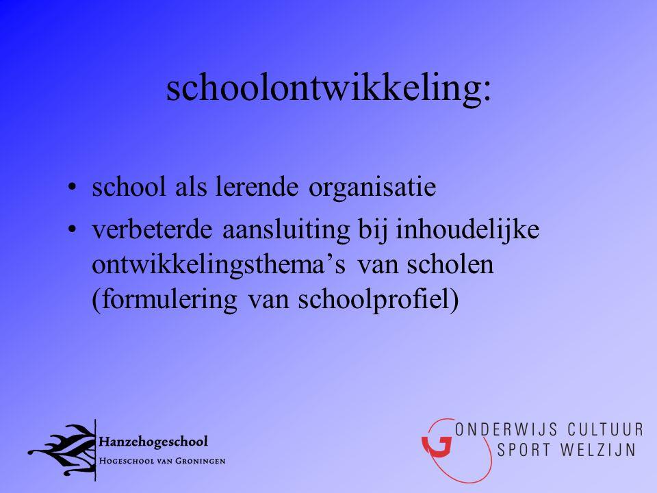 schoolontwikkeling: school als lerende organisatie