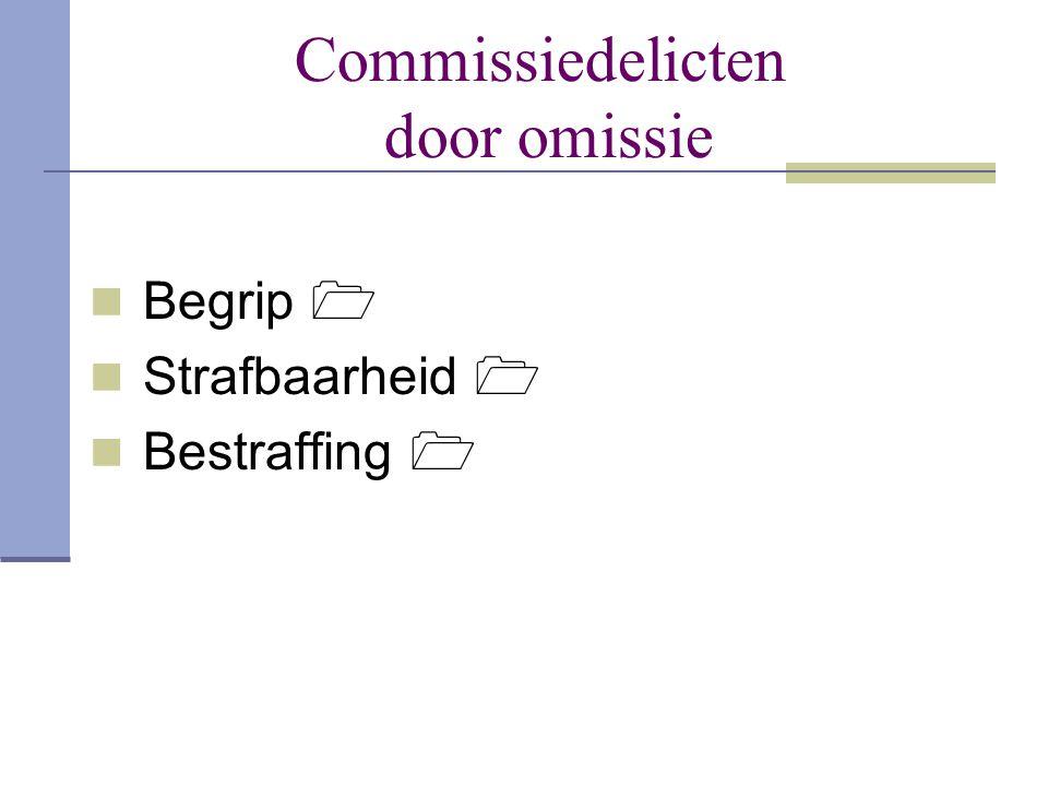 Commissiedelicten door omissie