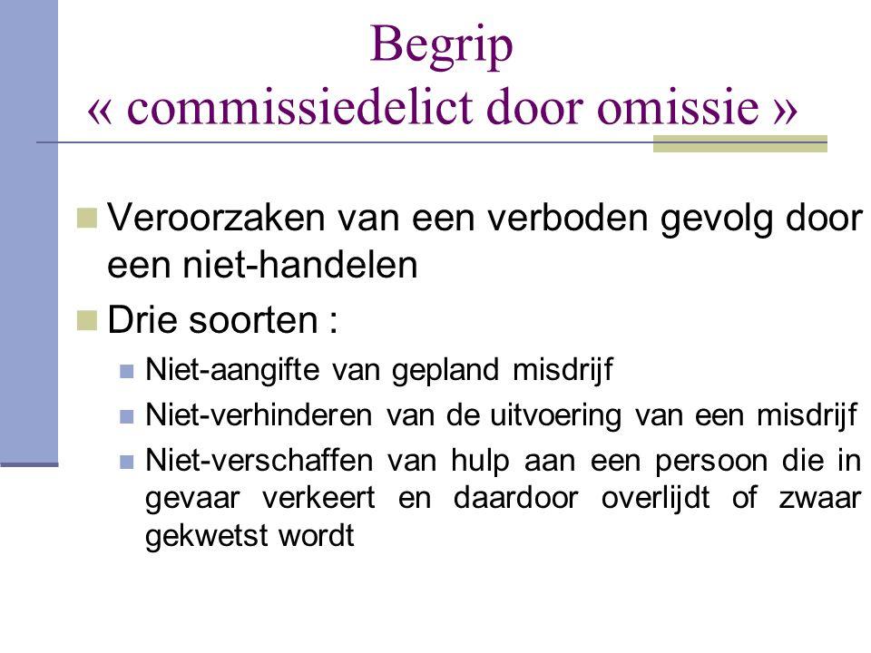 Begrip « commissiedelict door omissie »