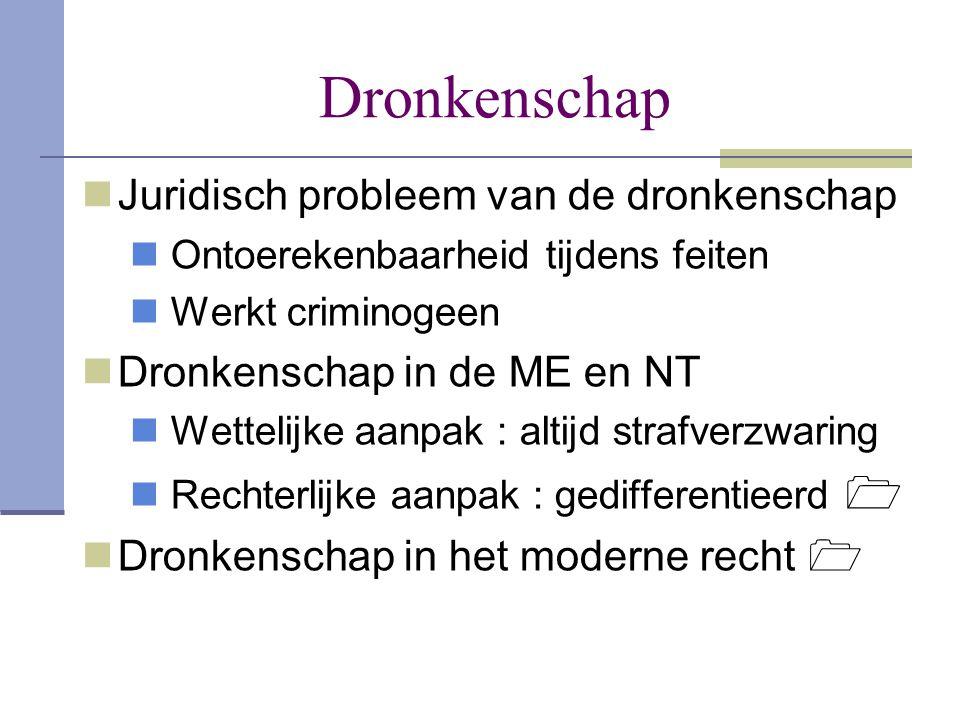 Dronkenschap Juridisch probleem van de dronkenschap
