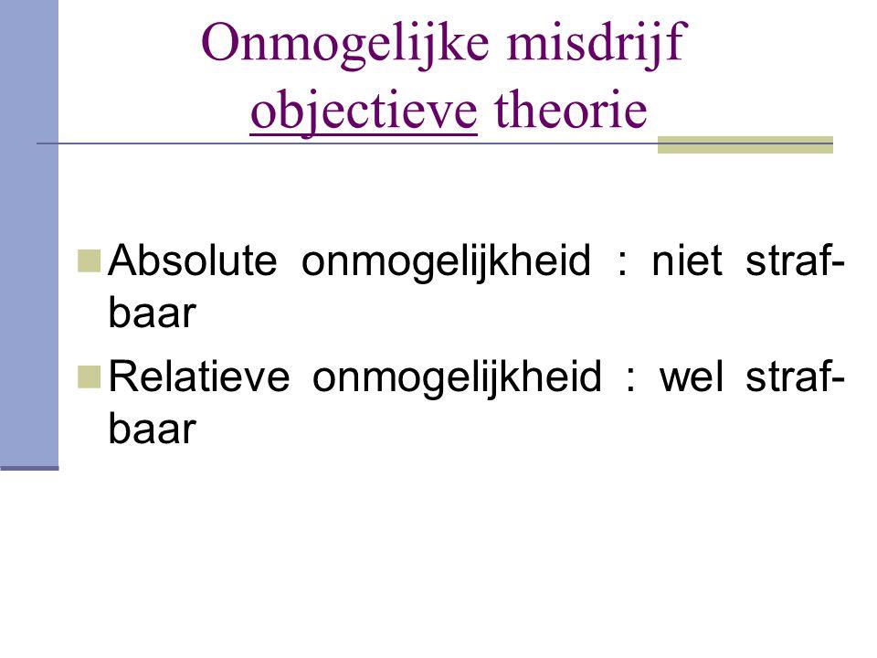 Onmogelijke misdrijf objectieve theorie