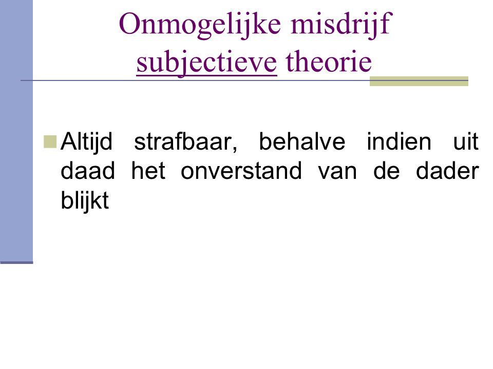 Onmogelijke misdrijf subjectieve theorie
