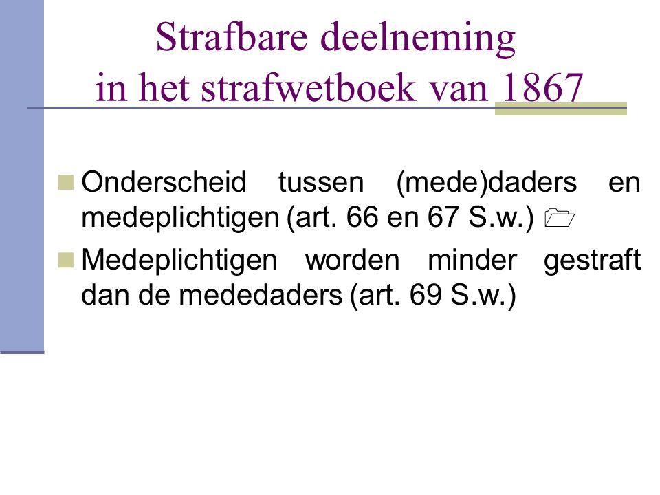 Strafbare deelneming in het strafwetboek van 1867