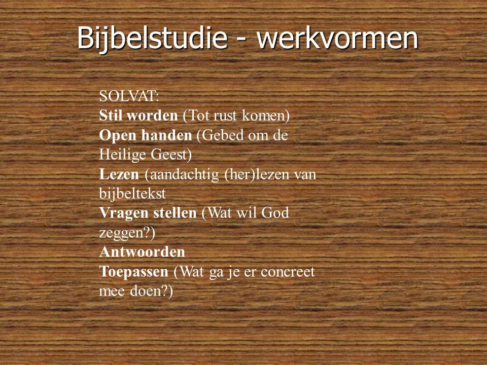 Bijbelstudie - werkvormen