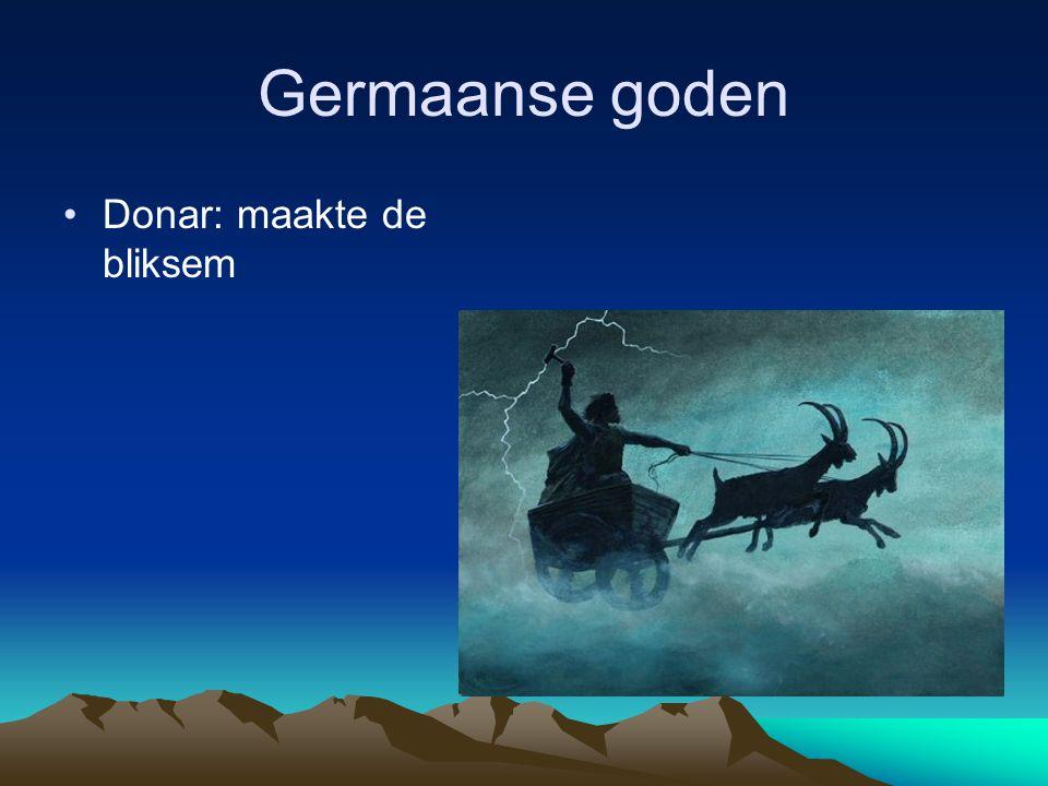 Germaanse goden Donar: maakte de bliksem