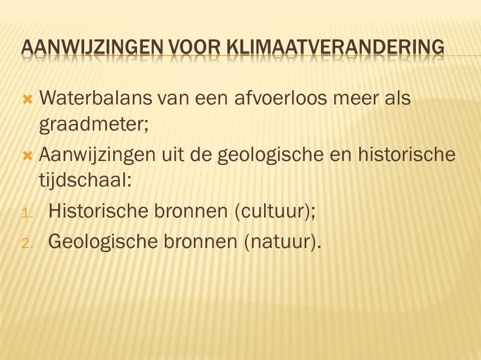 Aanwijzingen voor klimaatverandering