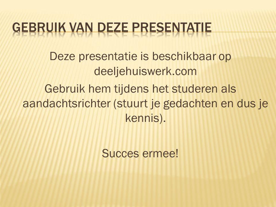 Gebruik van deze presentatie