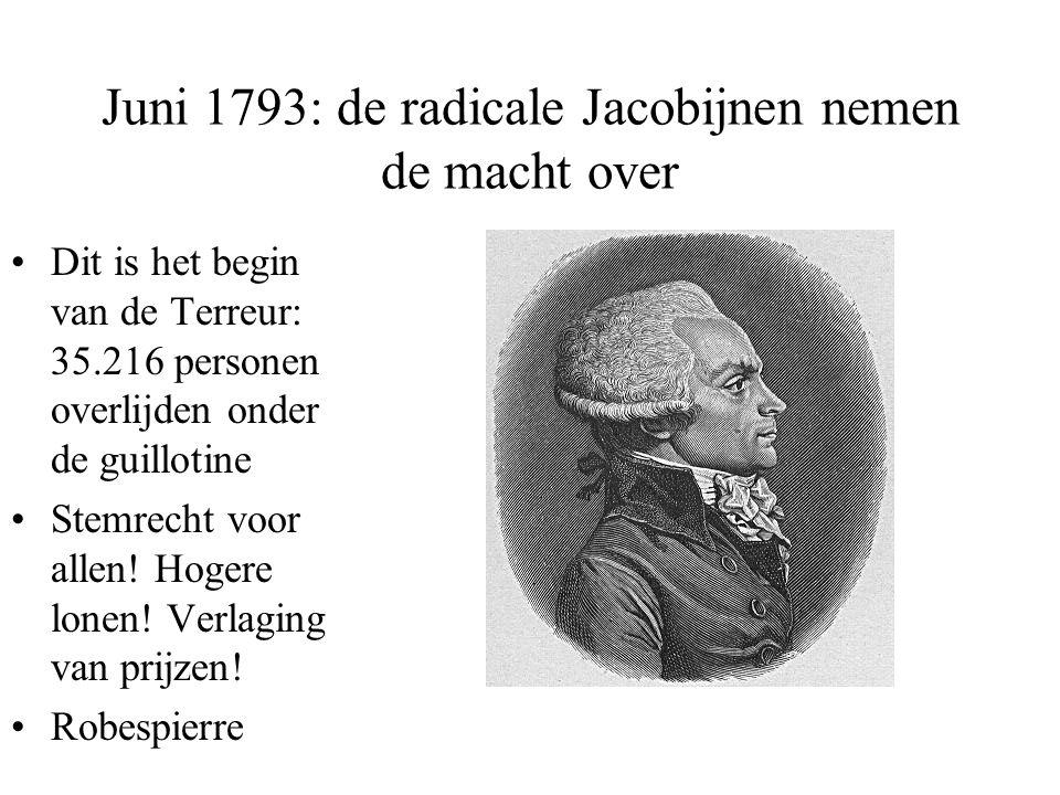 Juni 1793: de radicale Jacobijnen nemen de macht over