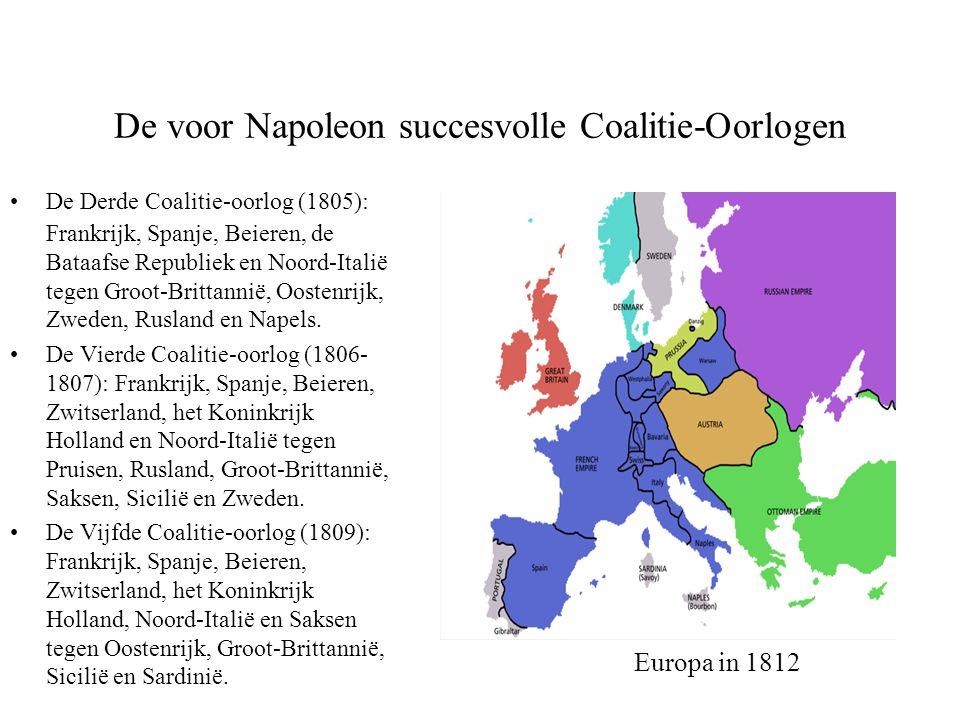 De voor Napoleon succesvolle Coalitie-Oorlogen