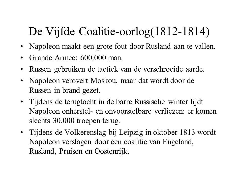 De Vijfde Coalitie-oorlog(1812-1814)