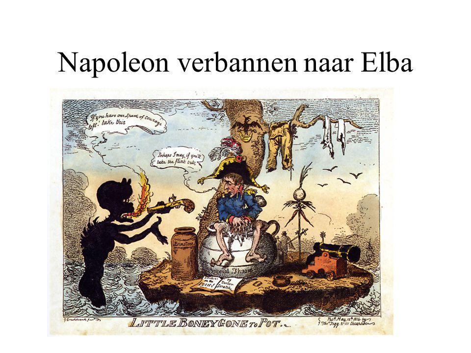 Napoleon verbannen naar Elba