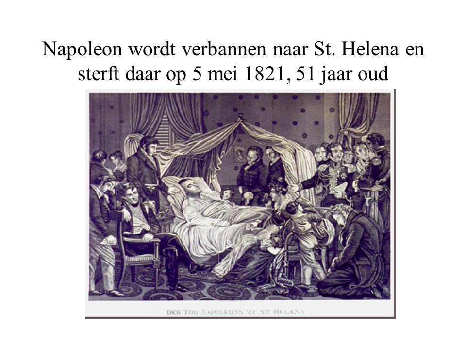 Napoleon wordt verbannen naar St