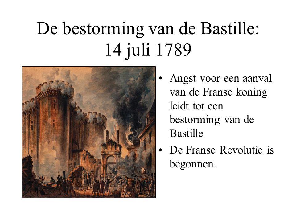 De bestorming van de Bastille: 14 juli 1789