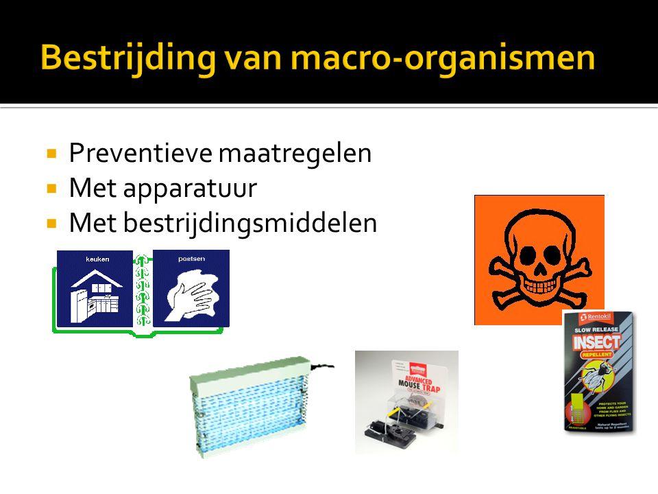 Bestrijding van macro-organismen