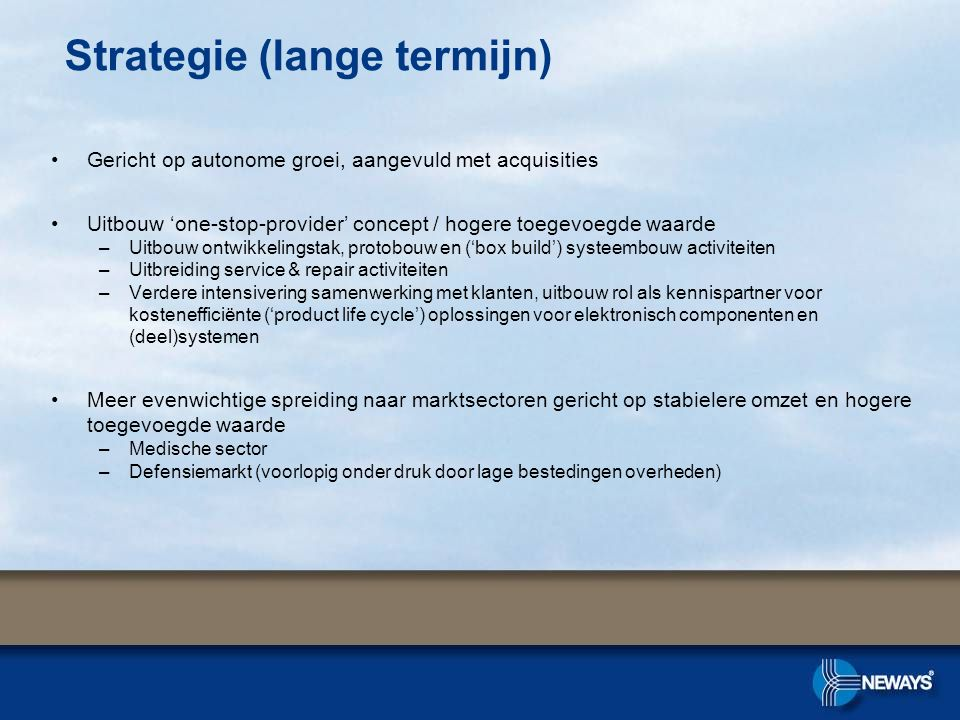 Strategie (lange termijn)