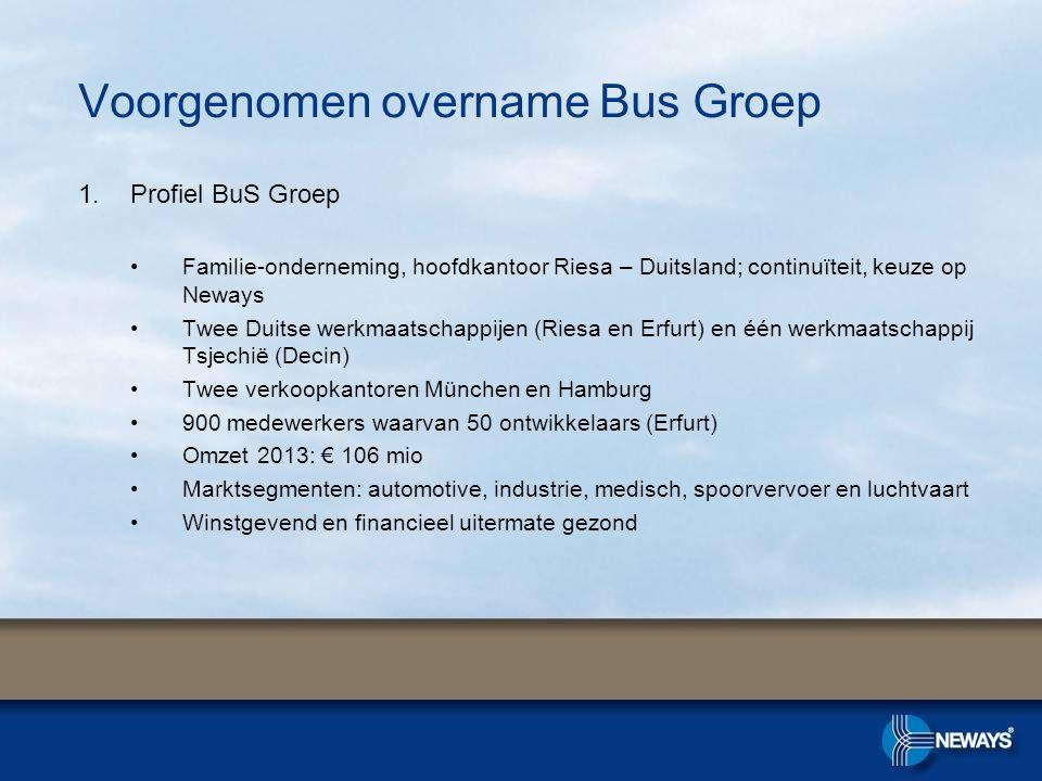 Voorgenomen overname Bus Groep