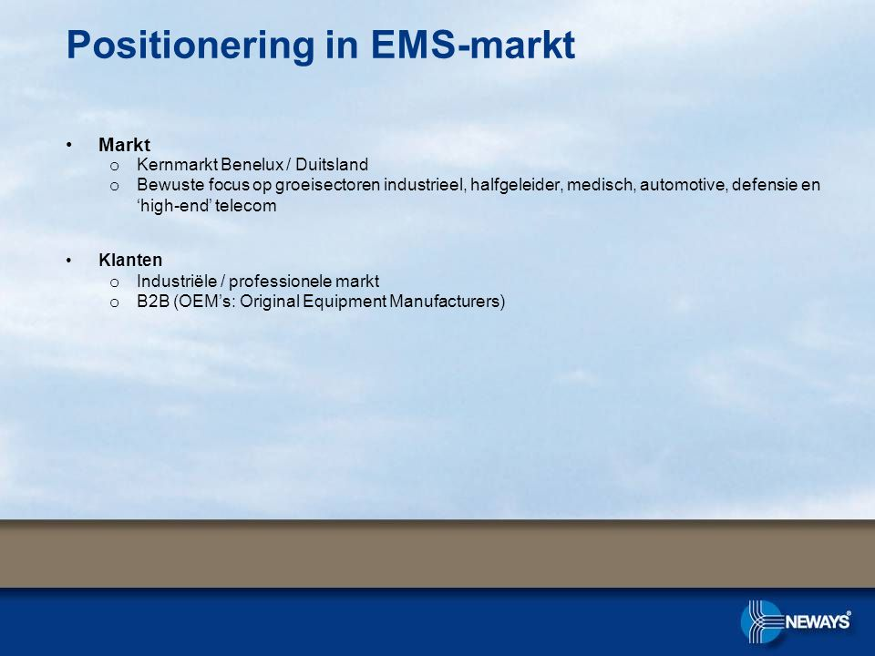 Positionering in EMS-markt