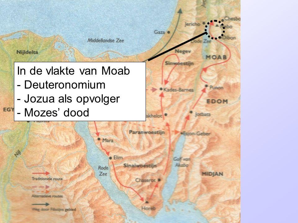 In de vlakte van Moab - Deuteronomium - Jozua als opvolger - Mozes' dood