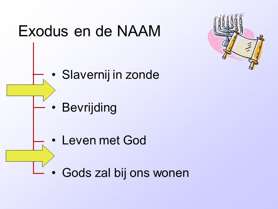 Exodus en de NAAM Slavernij in zonde Bevrijding Leven met God