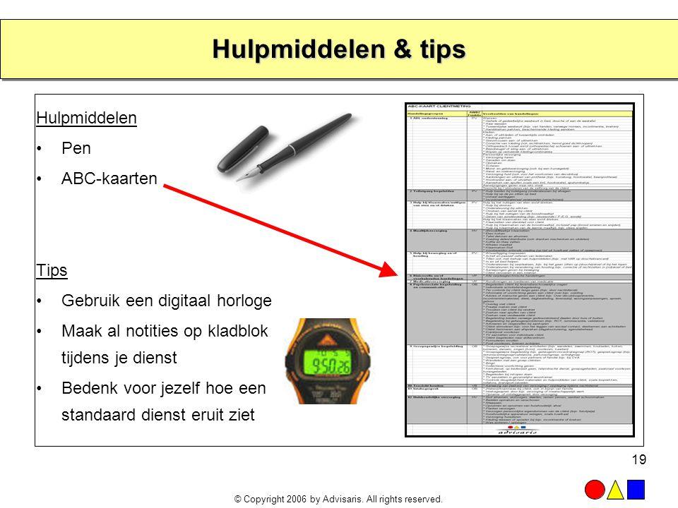 Hulpmiddelen & tips Hulpmiddelen Pen ABC-kaarten Tips