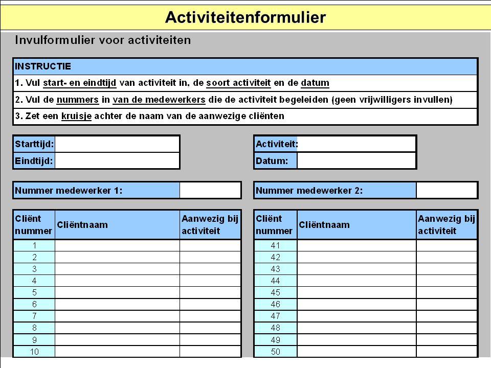 Activiteitenformulier