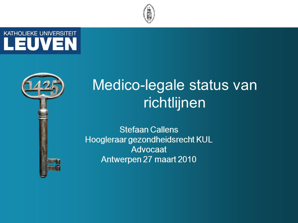 Medico-legale status van richtlijnen