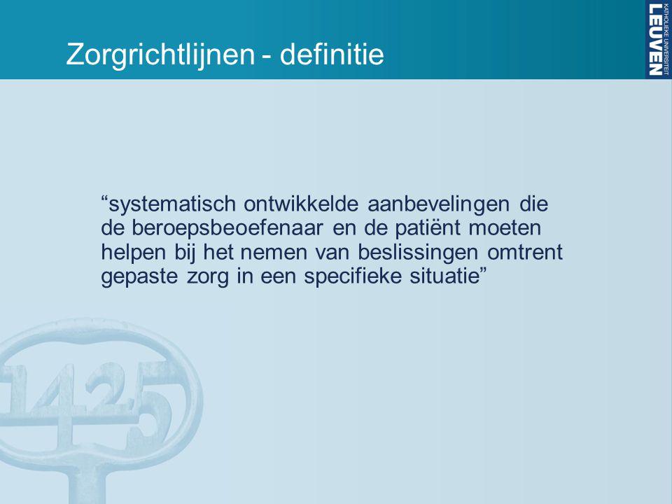 Zorgrichtlijnen - definitie