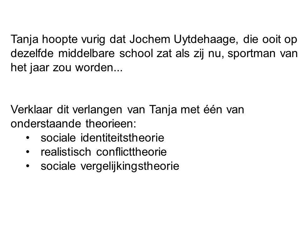 Tanja hoopte vurig dat Jochem Uytdehaage, die ooit op dezelfde middelbare school zat als zij nu, sportman van het jaar zou worden...