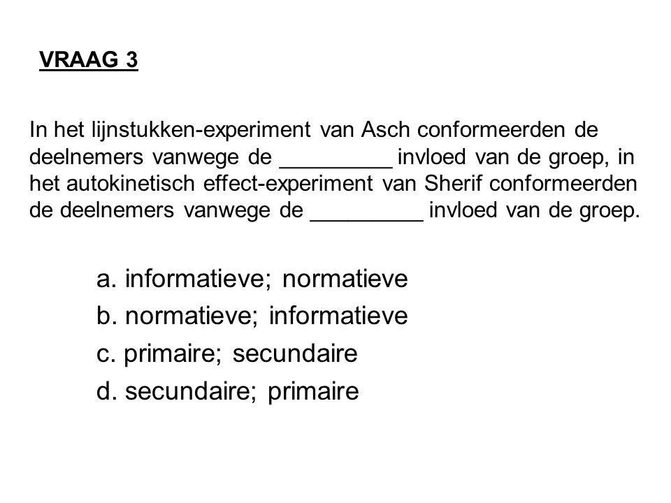 a. informatieve; normatieve b. normatieve; informatieve
