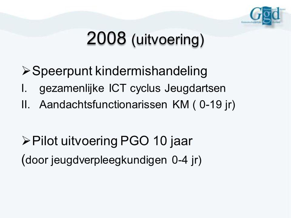 2008 (uitvoering) Speerpunt kindermishandeling