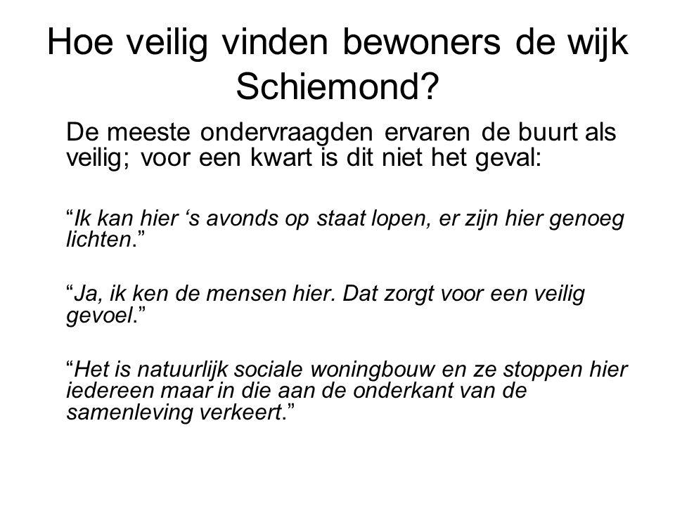 Hoe veilig vinden bewoners de wijk Schiemond