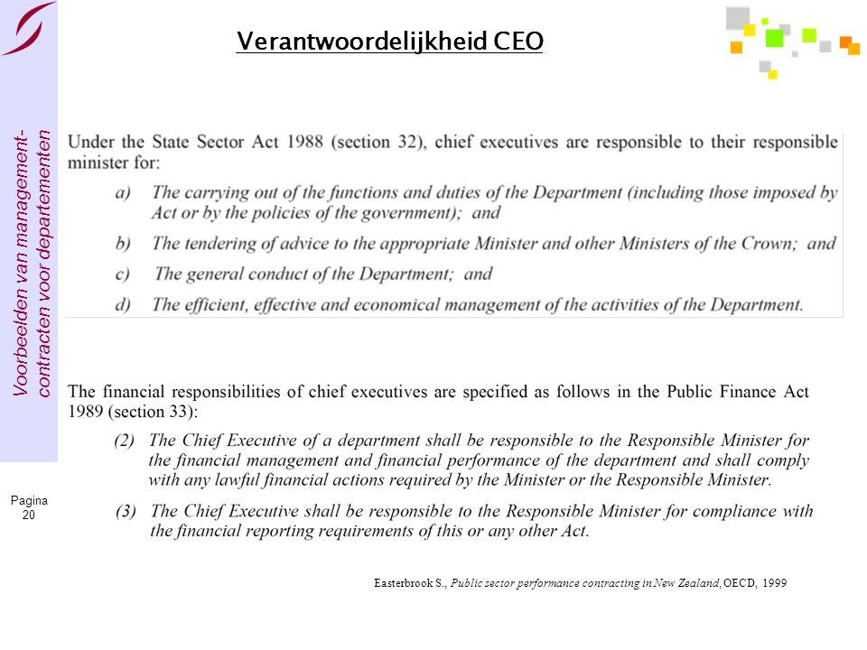 Verantwoordelijkheid CEO