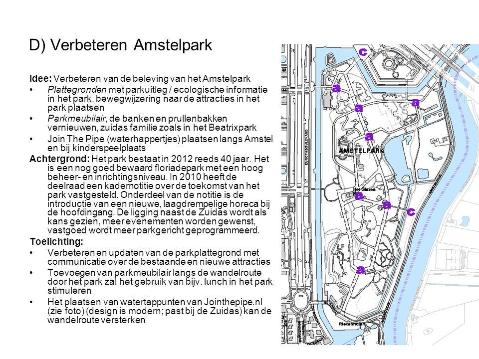 D) Verbeteren Amstelpark