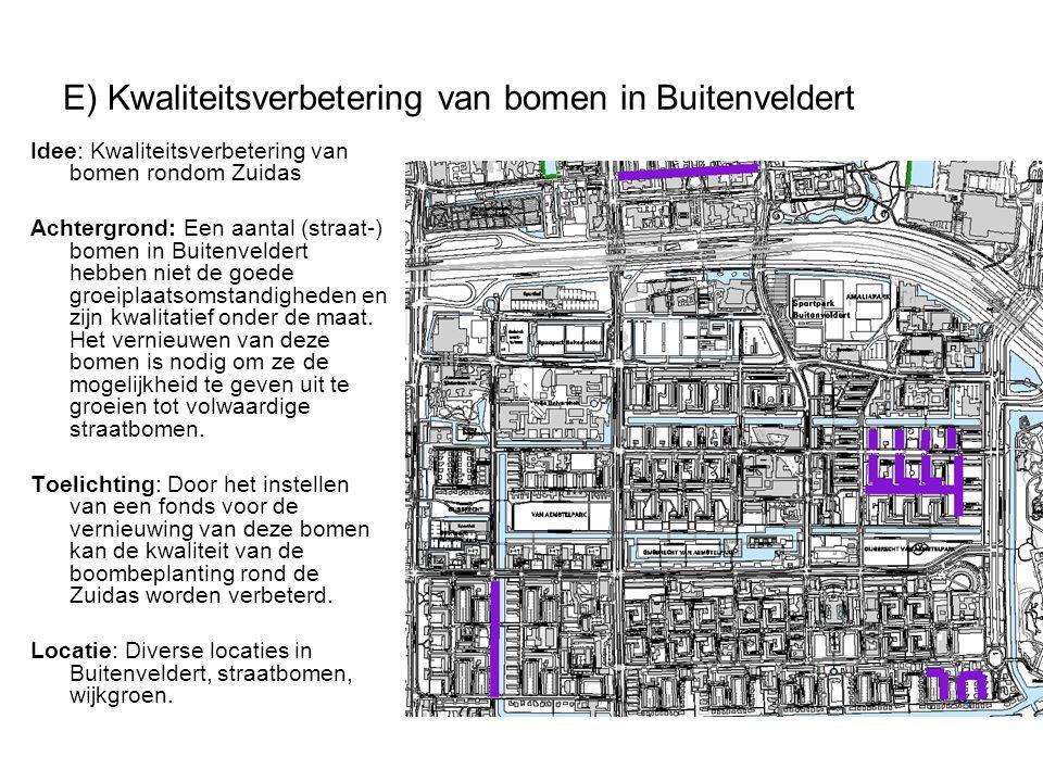 E) Kwaliteitsverbetering van bomen in Buitenveldert