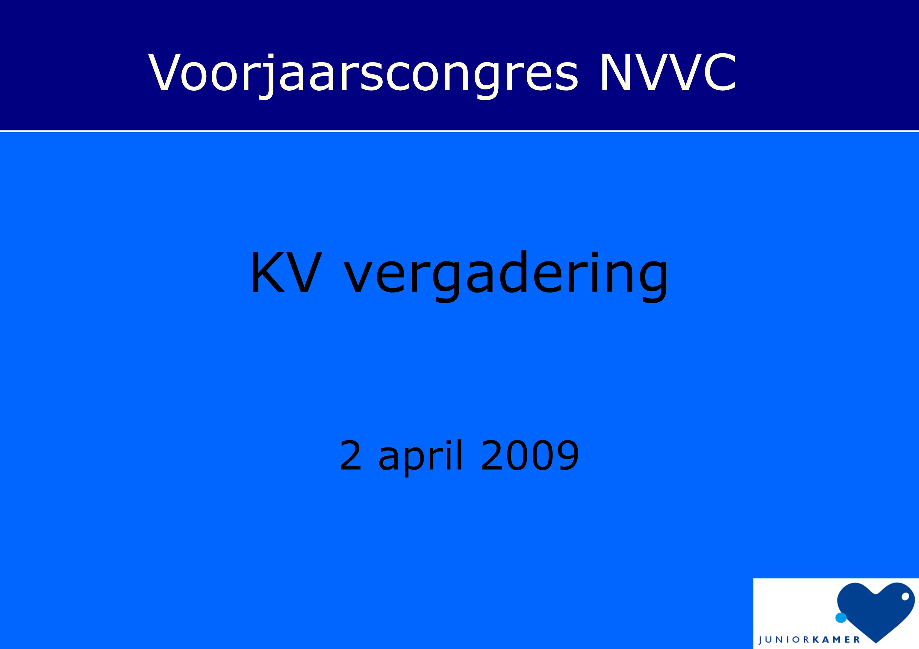 Voorjaarscongres NVVC